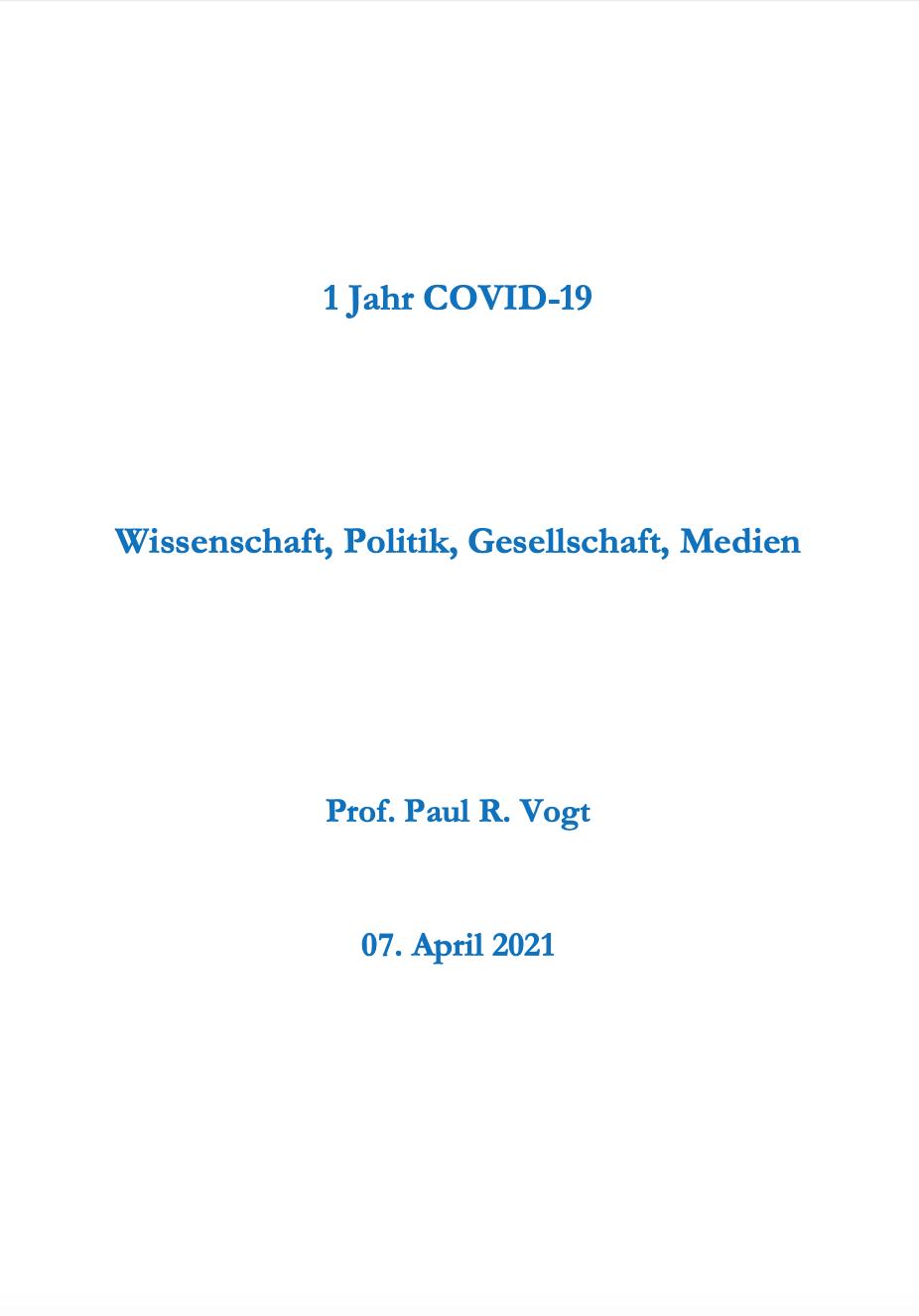 Ein Jahr COVID-19
